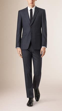 Burberry - Modern Fit Check Wool Half-Canvas Suit