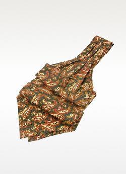 Forzieri  - Paisley Print Twill Silk Ascot