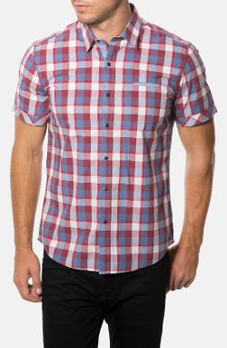 7 Diamonds - Counting Stars Short Sleeve Plaid Woven Shirt