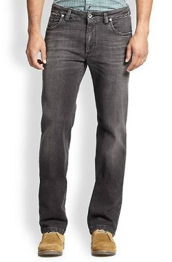 Saks Fifth - Dark Washed Straight-Leg Jeans
