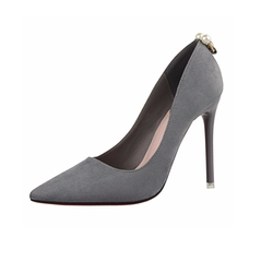 JNTworld - Faux Suede Pointed Toe Pumps