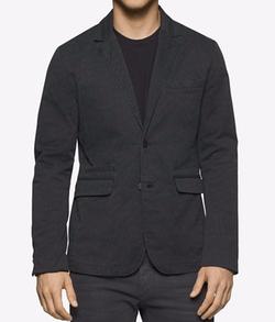 Calvin Klein Jeans - Herringbone-Print Blazer