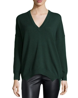 Michael Kors Collection   - Long-Sleeve V-Neck Tunic Top