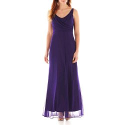 Blue Sage  - Sleeveless Surplice Maxi Dress