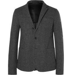 Marni - Slim-Fit Herringbone Wool Blazer