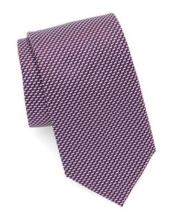Hugo Boss  - Neat Geometric Silk Tie