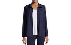 Eileen Fisher - High-Collar Stretch Jersey Jacket