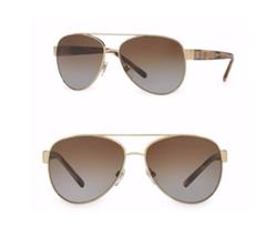 Burberry  - Pilot Double-Bridge Metal Sunglasses