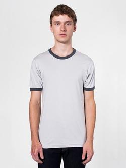 American Apparel - Fine Jersey Short Sleeve Ringer T-Shirt