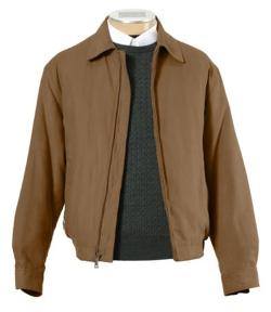 Jos. A. Bank - Micro-Suede Zip-Out Bomber Jacket