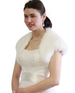 Tion Bridal - Faux Fur Bolero Jacket