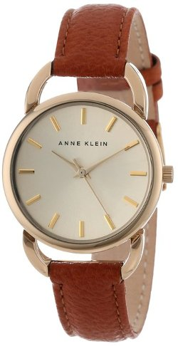 Anne Klein - Honey Leather Strap Watch
