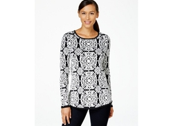 Charter Club  - Long-Sleeve Jacquard Sweater