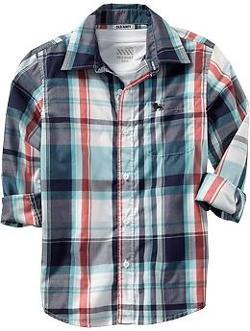 Old Navy - Boys Plaid Shirts