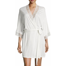 Eberjey - Magnolia Lace-Trimmed Robe