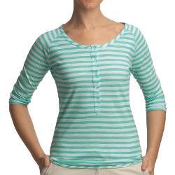 Gramicci  - Asteria Dafina Stripe Henley Shirt - 3/4 Sleeve