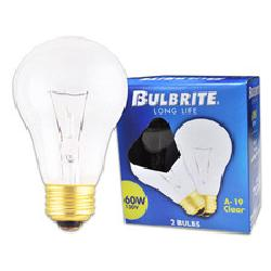 Bulbrite Industries - 60W Long Life General Service Standard A19 Incandescent Bulb in Frost