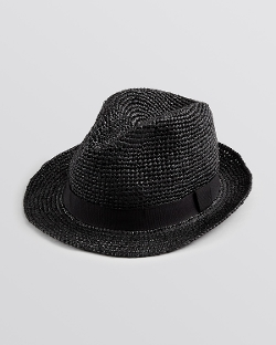John Varvatos USA  - Straw Fedora Hat