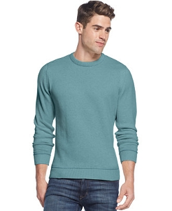Club Room - Tipped Crew-Neck Sweater
