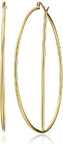 Trina Turk  - Large Gold-Plated Hoop Earrings