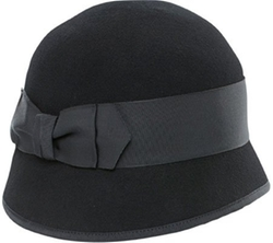 San Diego Hat Company - Wool Felt Bow Cloche Hat