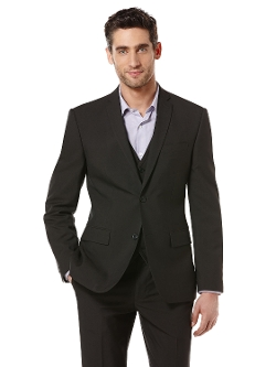 Perry Ellis International - Slim Fit Solid Texture Suit Jacket