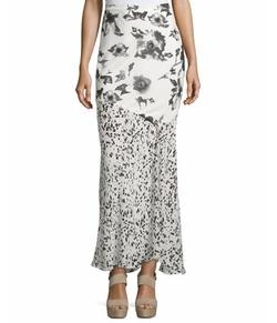 Haute Hippie - Mixed-Print Maxi Skirt