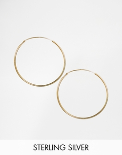 ASOS  - Sterling Silver Fine Hoop Earrings