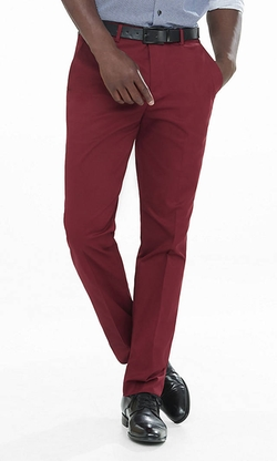 Express - Dark Red Stretch Cotton Photographer Dress Pant