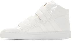 Mm6 Maison Margiela - Leather Mid-Top Sneakers