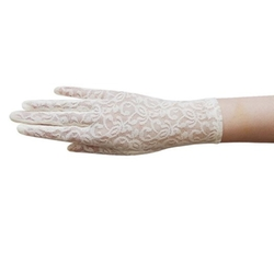 Zaza Bridal - Flower Pattern Lace Gloves