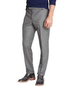 Prada - Grey Wool Flat Front Straight Leg Pants