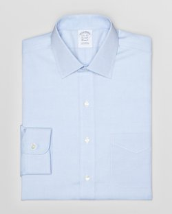 Brooks Brothers - Solid Pinpoint Dress Shirt