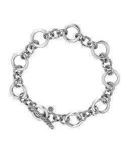 John Hardy   - Classic Chain Silver Link Station Bracelet