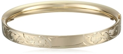 Amazon Collection - Engraved Hinged Bangle Bracelet