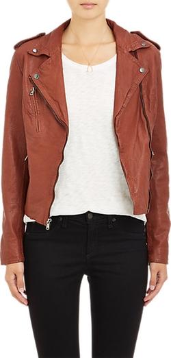 Barneys New York  - Lambskin Moto Jacket