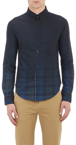 Band Of Outsiders - Blackwatch Plaid Oxford Shirt