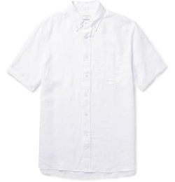 Club Monaco - Button-Down Collar Linen Shirt