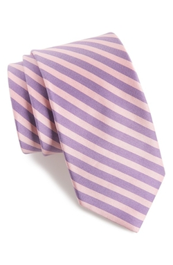 Ted Baker  - London Stripe Cotton & Silk Tie