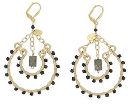 Double Happiness Jewelry - Lourdes Black Onyx Earrings