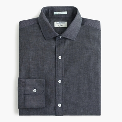 Albiate 1830 for J.Crew  - Ludlow Shirt in Deep Atlantic Chambray