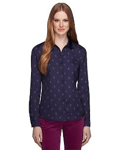 The Red Fleece Collection - Crest Print Blouse