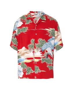 Gucci  - Eagle Print Poplin Shirt