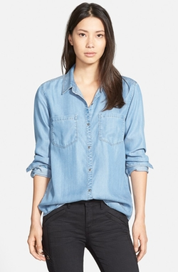 Hinge - Chambray Button Back Shirt