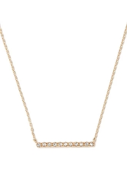 Forever 21 - Rhinestone Bar Charm Necklace