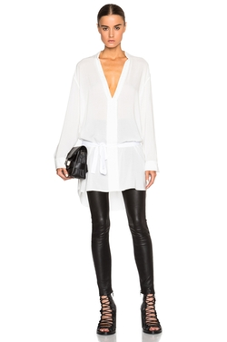 Ann Demeulemeester - Belted Collarless Blouse