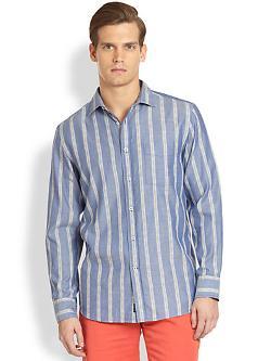 Faconnable  - Striped Denim Sportshirt