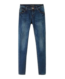 Chicnova - Slim Fit Antiquated Denim Jeans