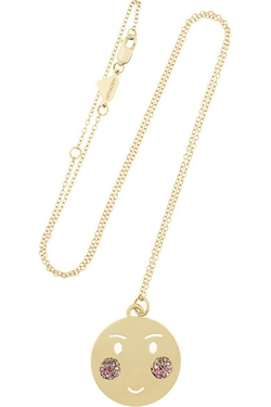 Alison Lou  - Bashful Gold Sapphire Necklace
