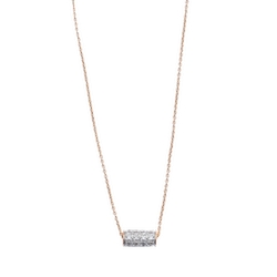 Ginette_NY - Mini Straw Diamond Necklace